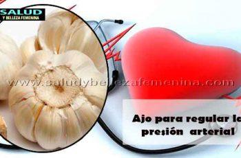 Ajo para regular la presión arterial