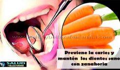 Previene la caries y mantén los dientes sanos con zanahoria