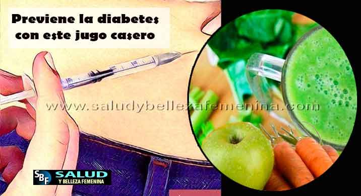 Previene la diabetes con este jugo casero