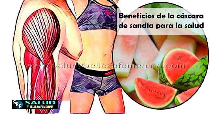 Beneficios de la cáscara de sandía para la salud