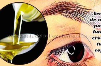 Aceite de oliva para hacer crecer tus cejas