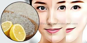 Loción blanqueadora de arroz y limón - Belleza facial