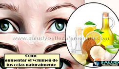 Como aumentar el volumen de tus cejas naturalmente