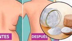 Derritela grasa de la barriga, muslos,brazos y espalda con bicarbonato de sodio