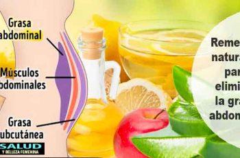 Remedios naturales para eliminar la grasa abdominal
