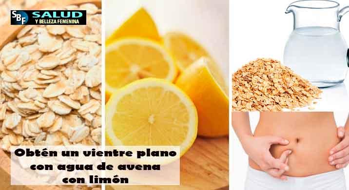 Obtén un vientre plano con agua de avena con limón