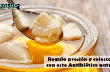Regula presión y colesterol con este Antibiótico natural